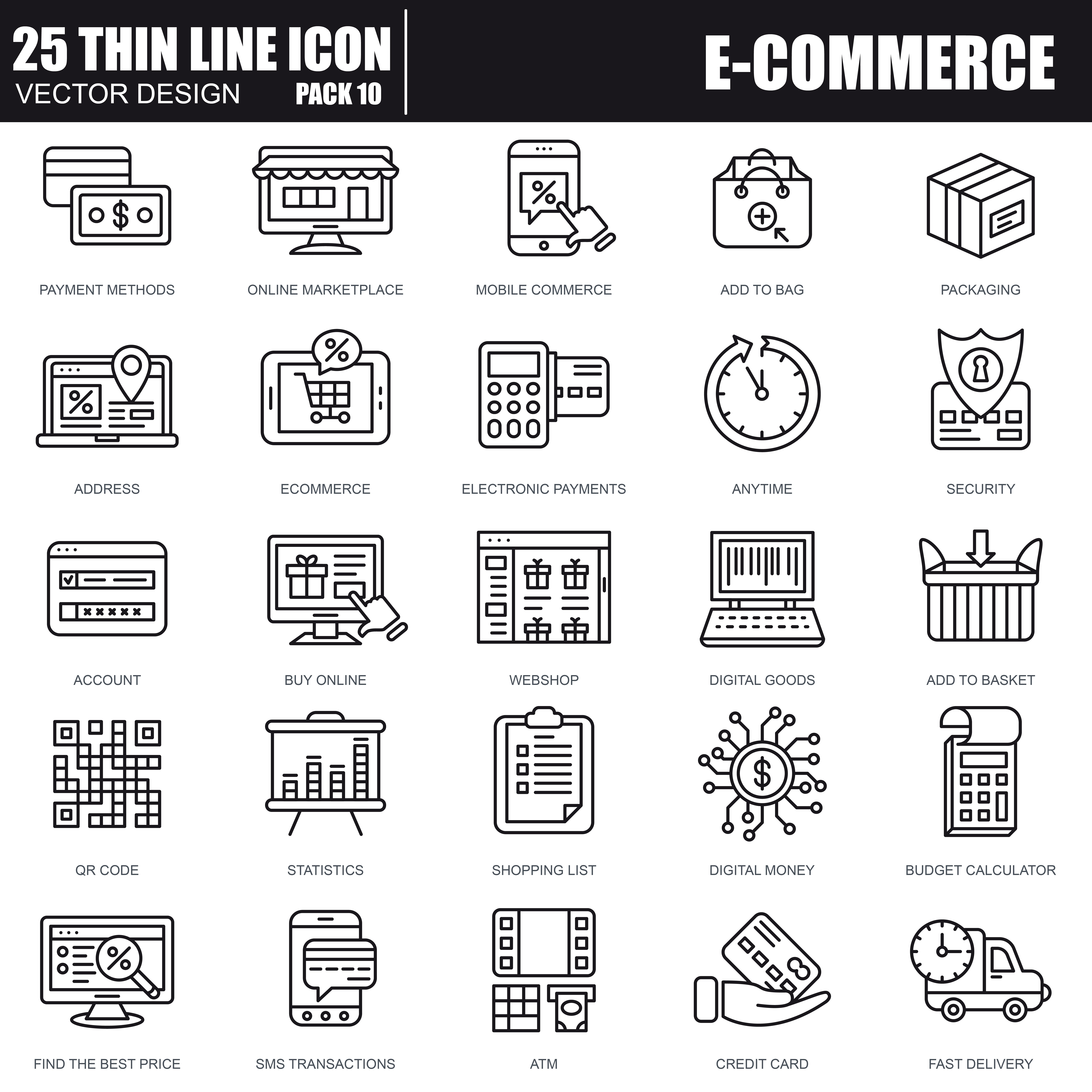 1000 Business Line Icons - just $22 - 30