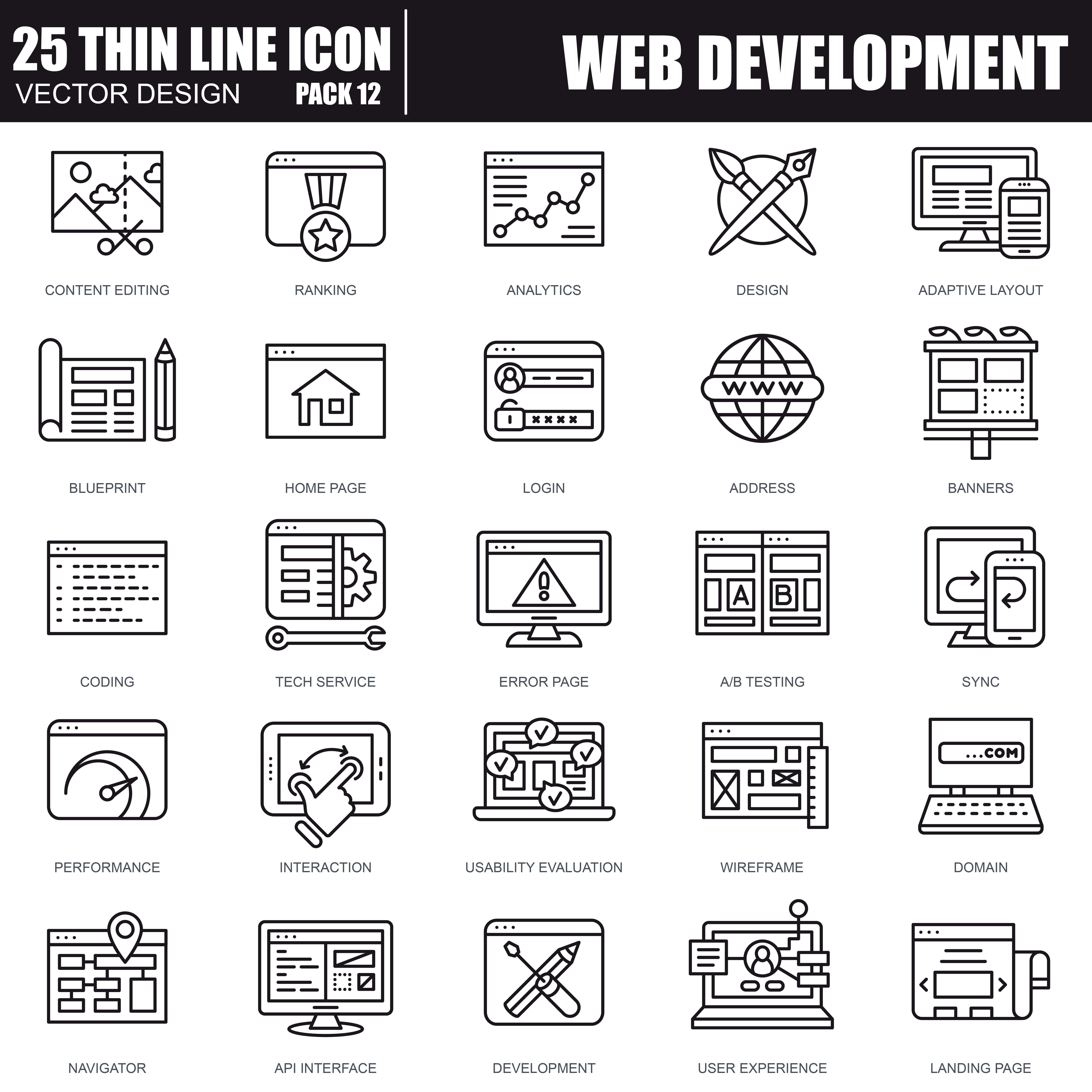 1000 Business Line Icons - just $22 - 32