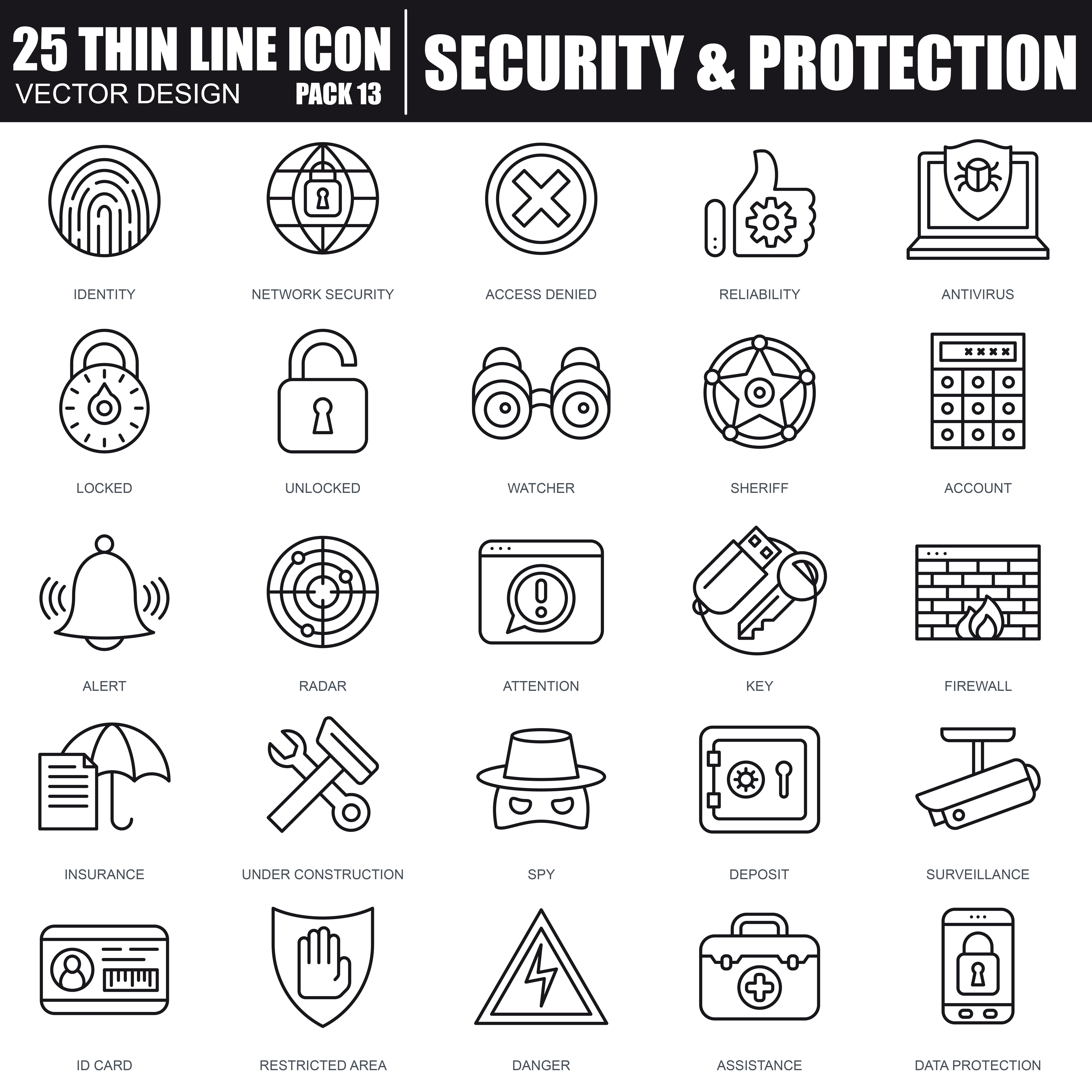 1000 Business Line Icons - just $22 - 33