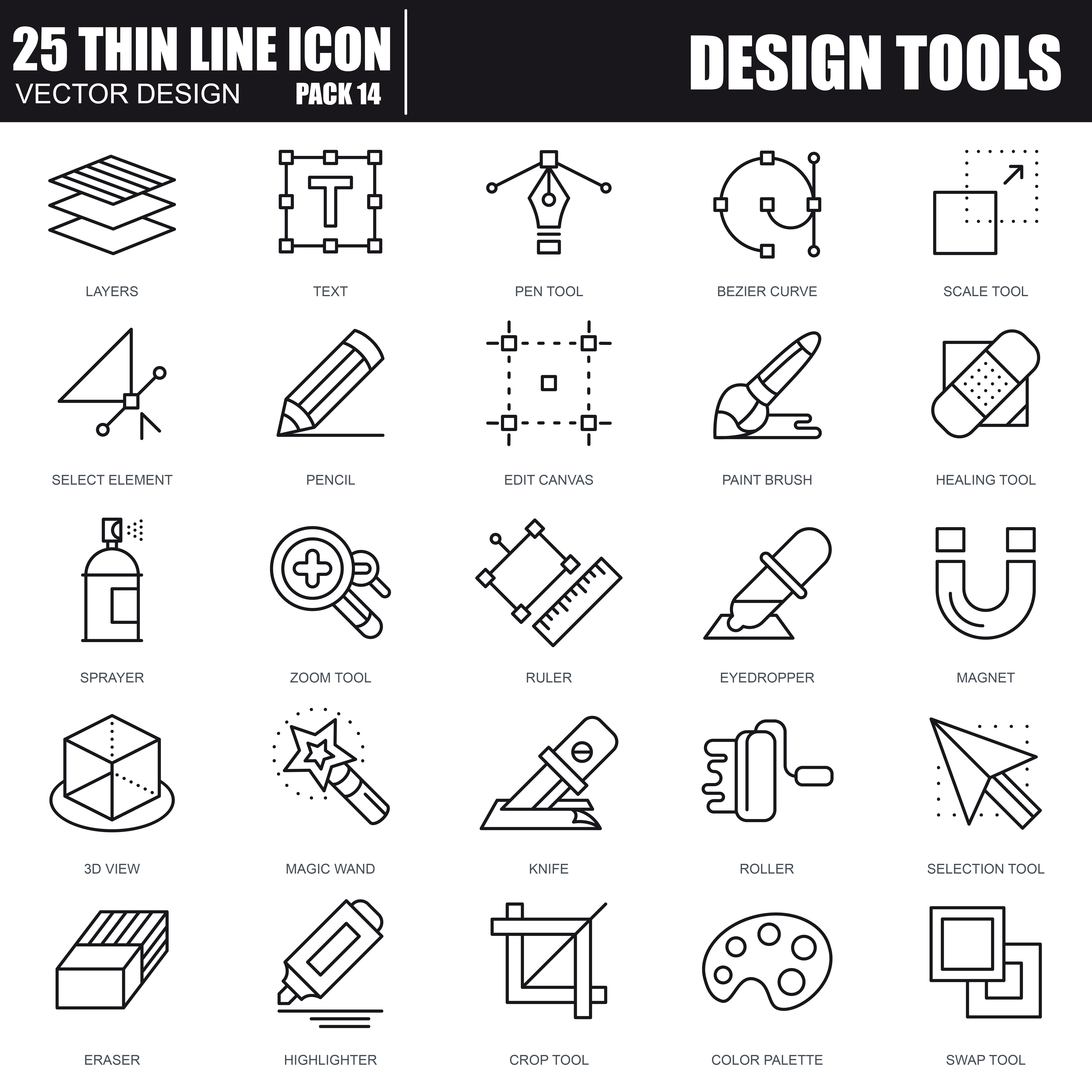 1000 Business Line Icons - just $22 - 34