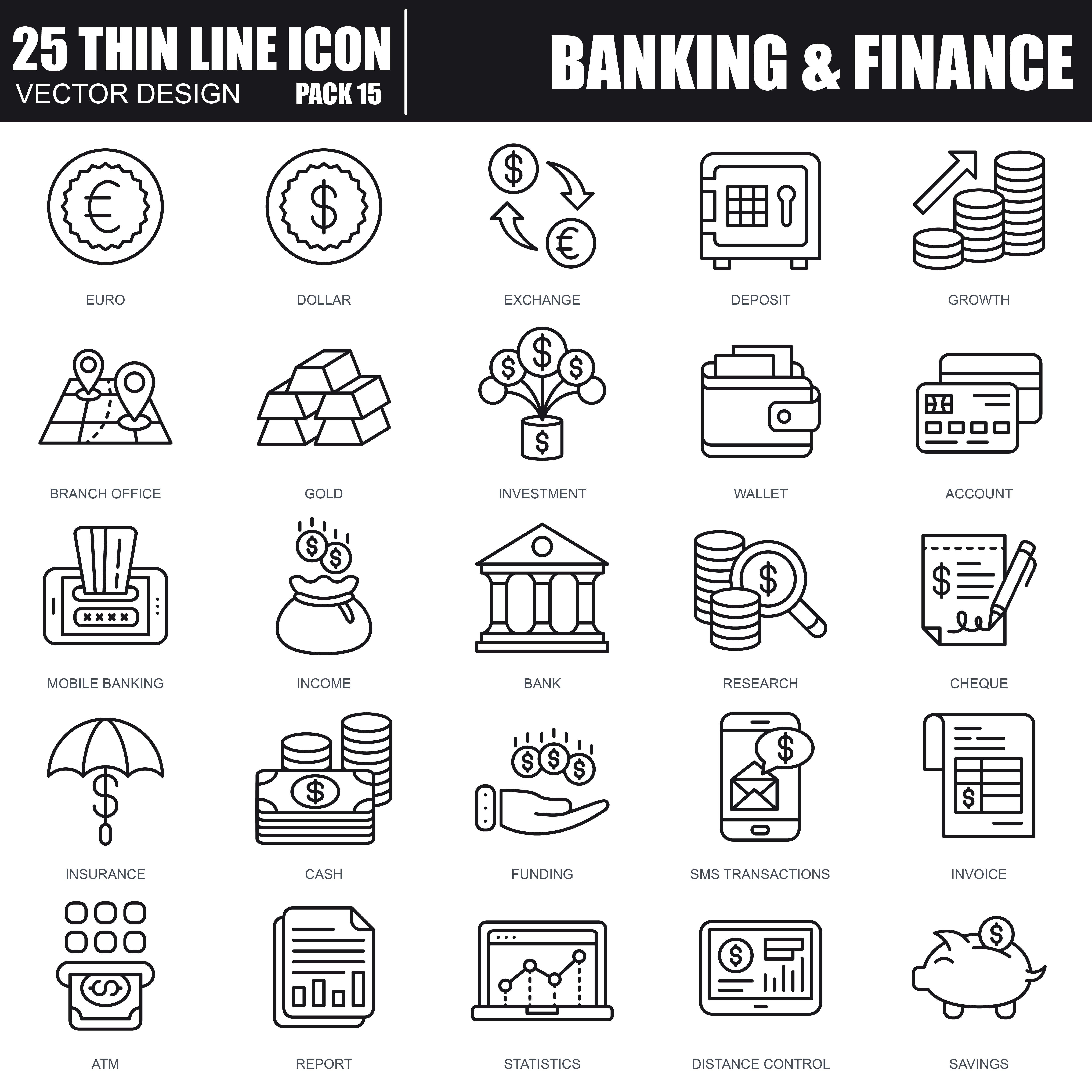 1000 Business Line Icons - just $22 - 35