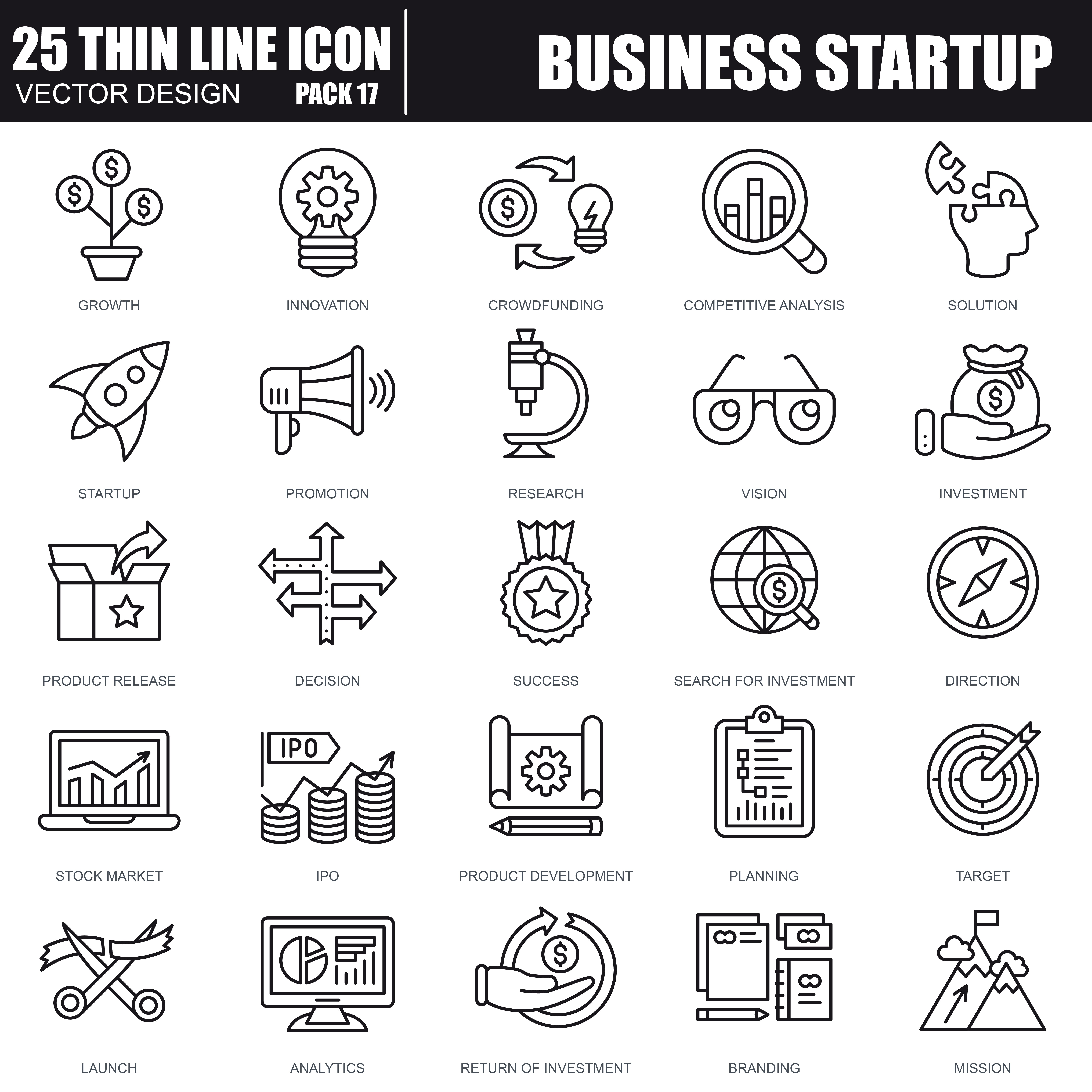 1000 Business Line Icons - just $22 - 37