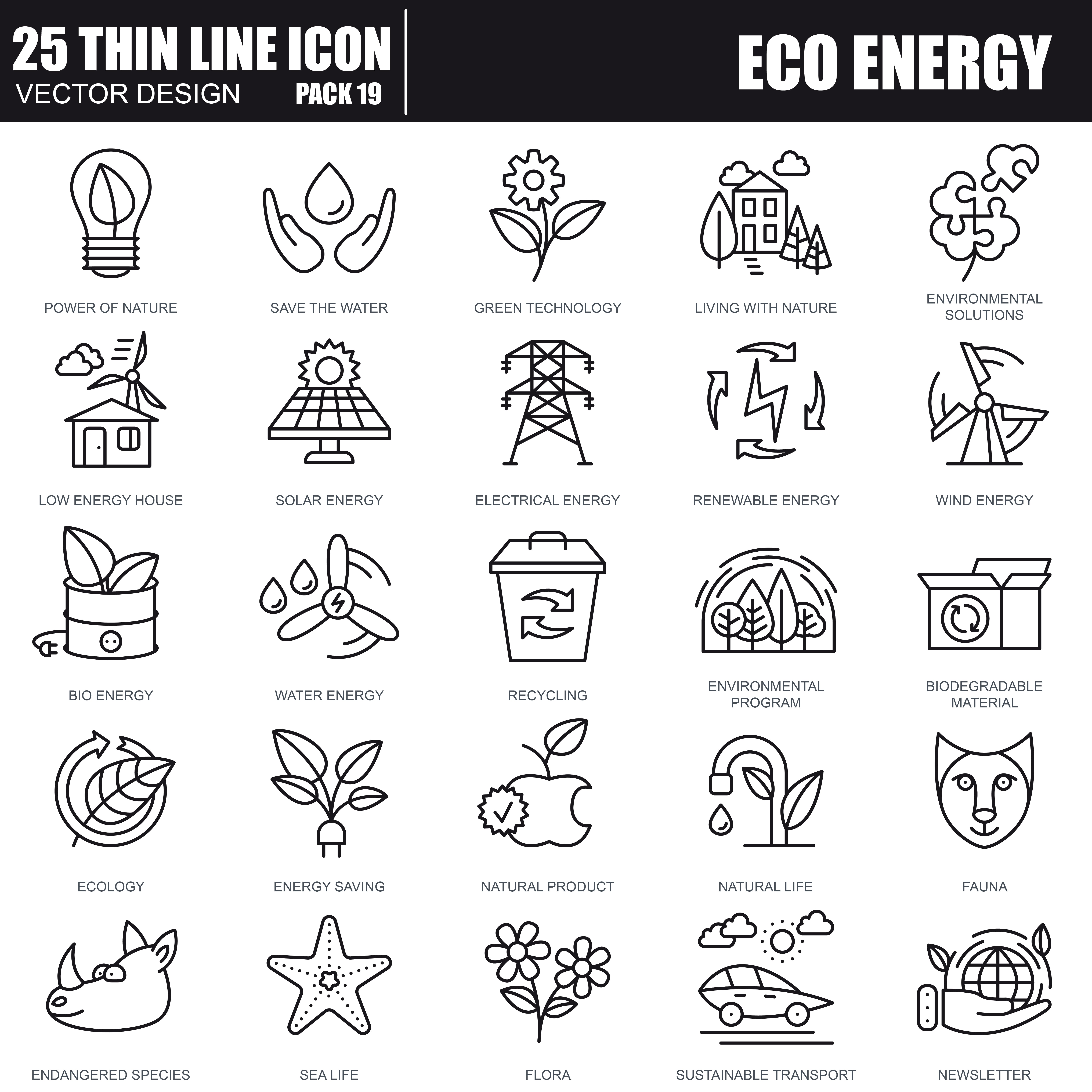1000 Business Line Icons - just $22 - 39