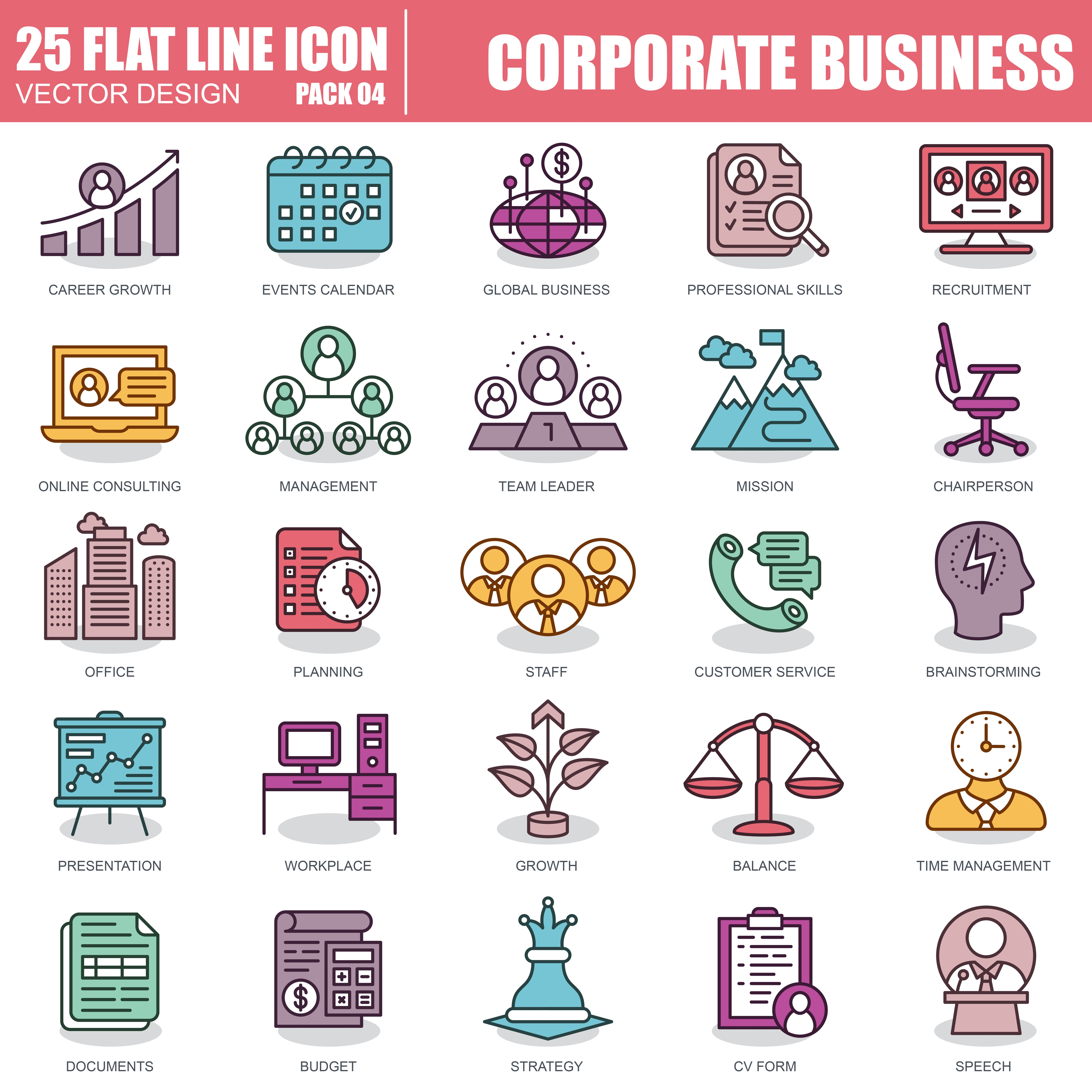 1000 Business Line Icons - just $22 - 4 5