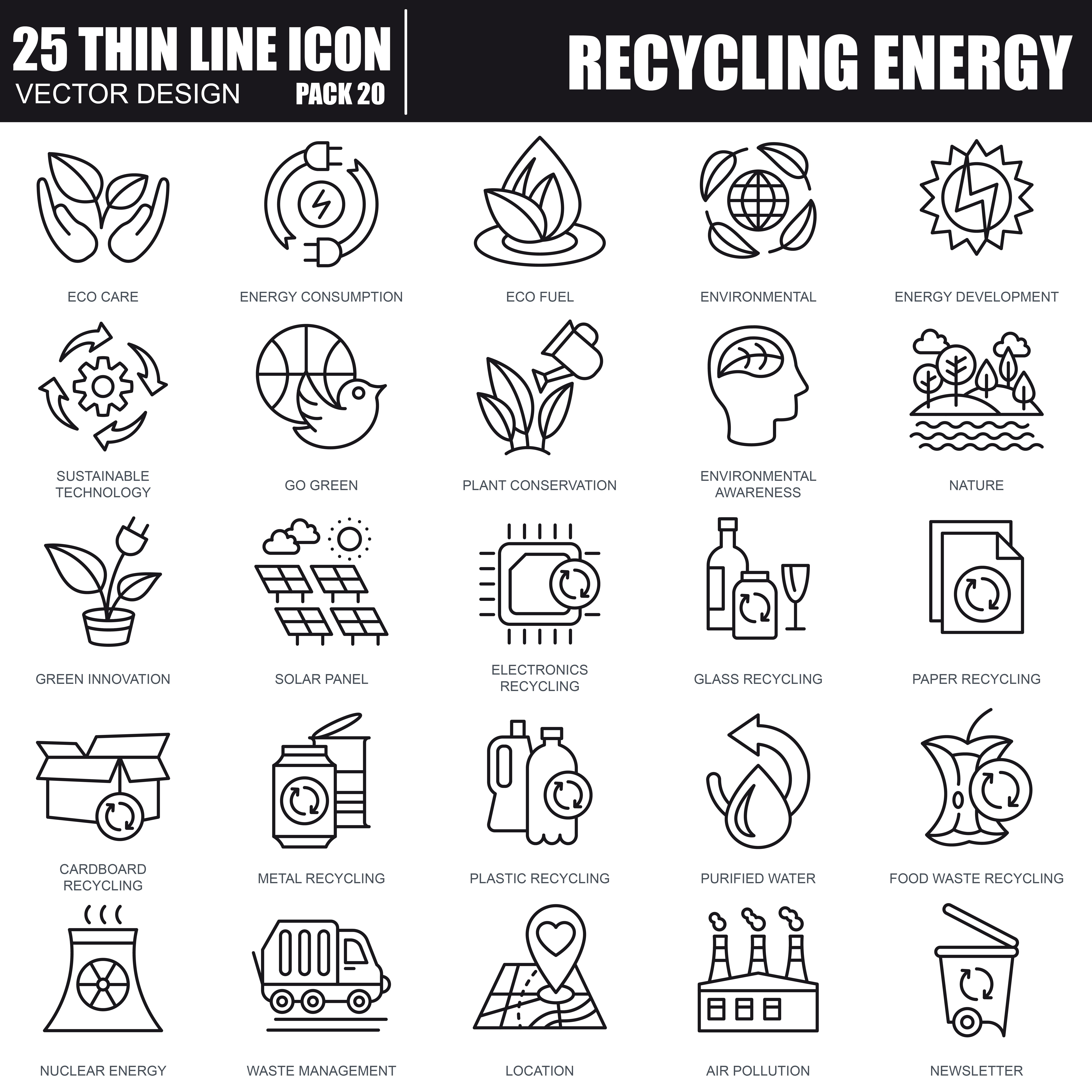 1000 Business Line Icons - just $22 - 40