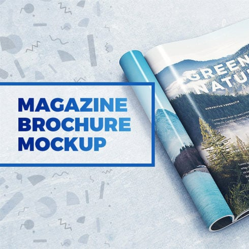 29 Magazine Brochure MockUps (.PSD) + 20 Background Textures. Best Price! - 490 6 490x490