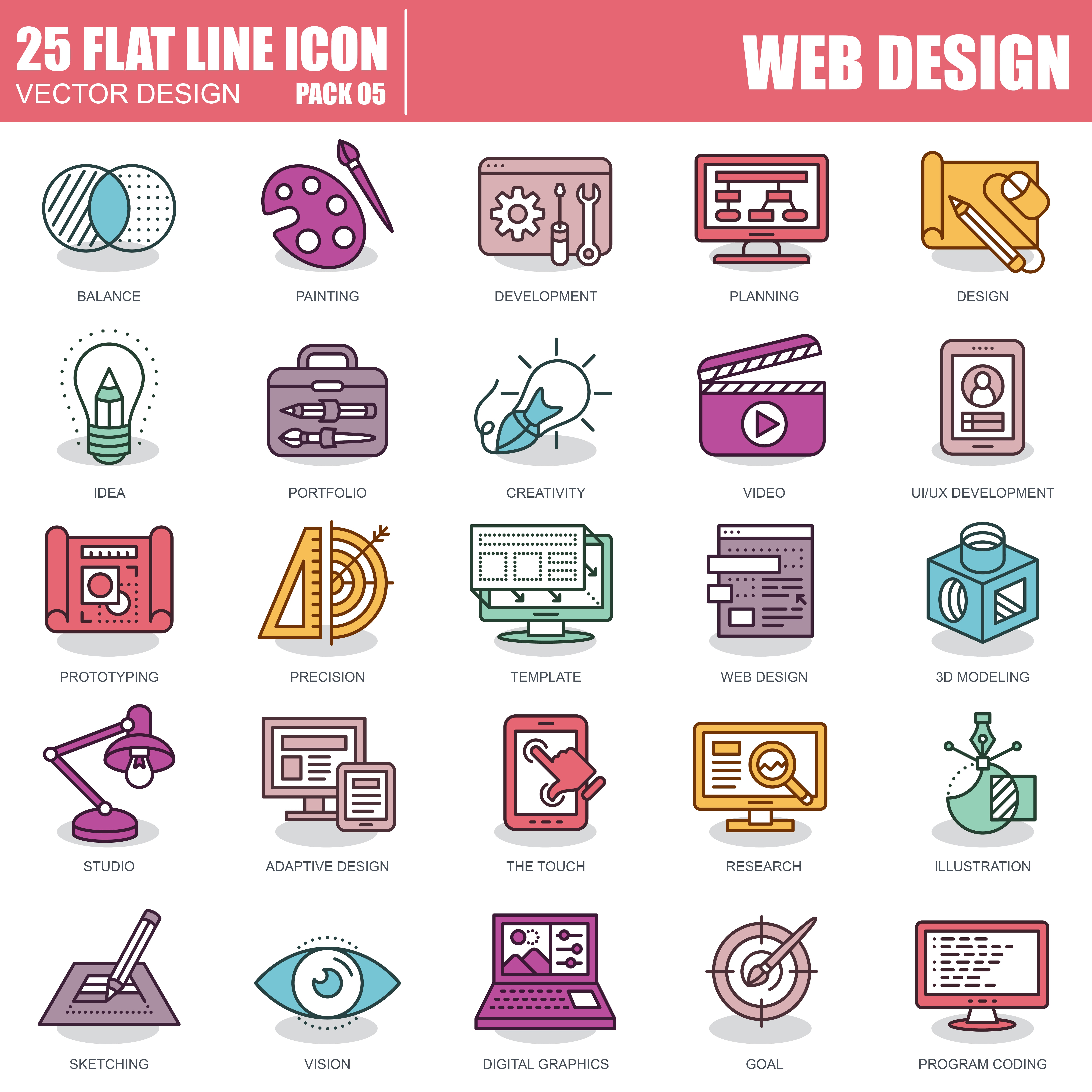 1000 Business Line Icons - just $22 - 5 3