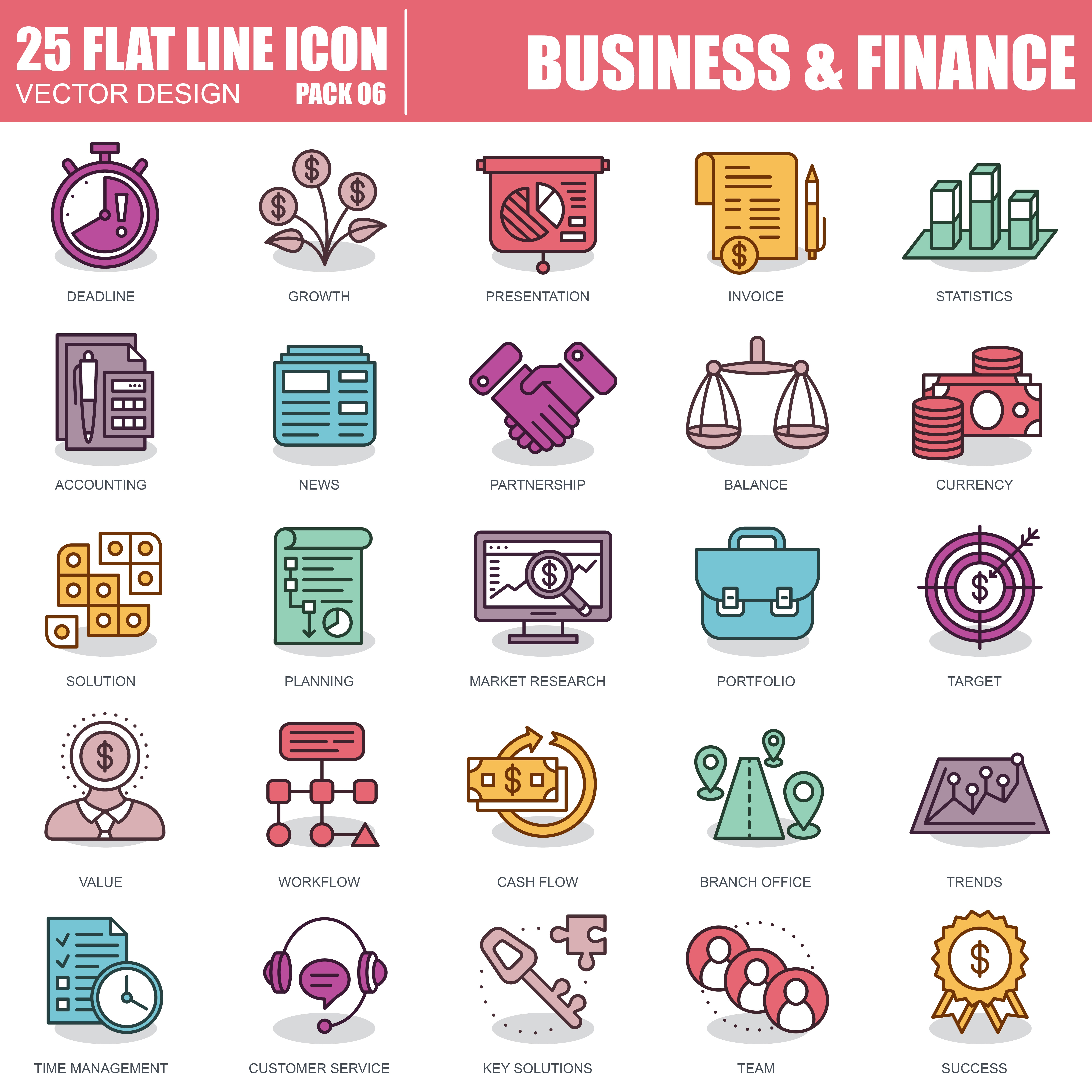 1000 Business Line Icons - just $22 - 6 5