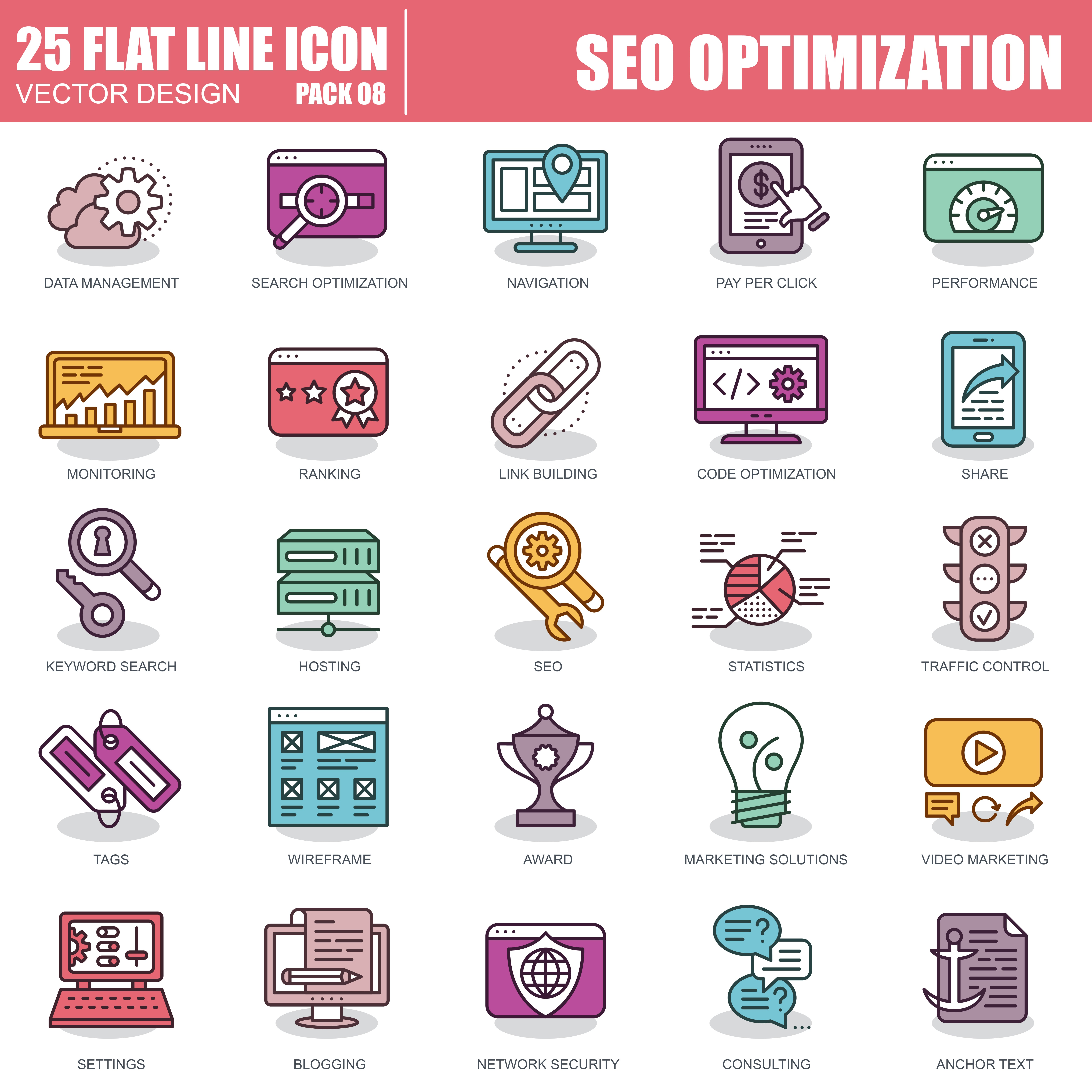 1000 Business Line Icons - just $22 - 8 2