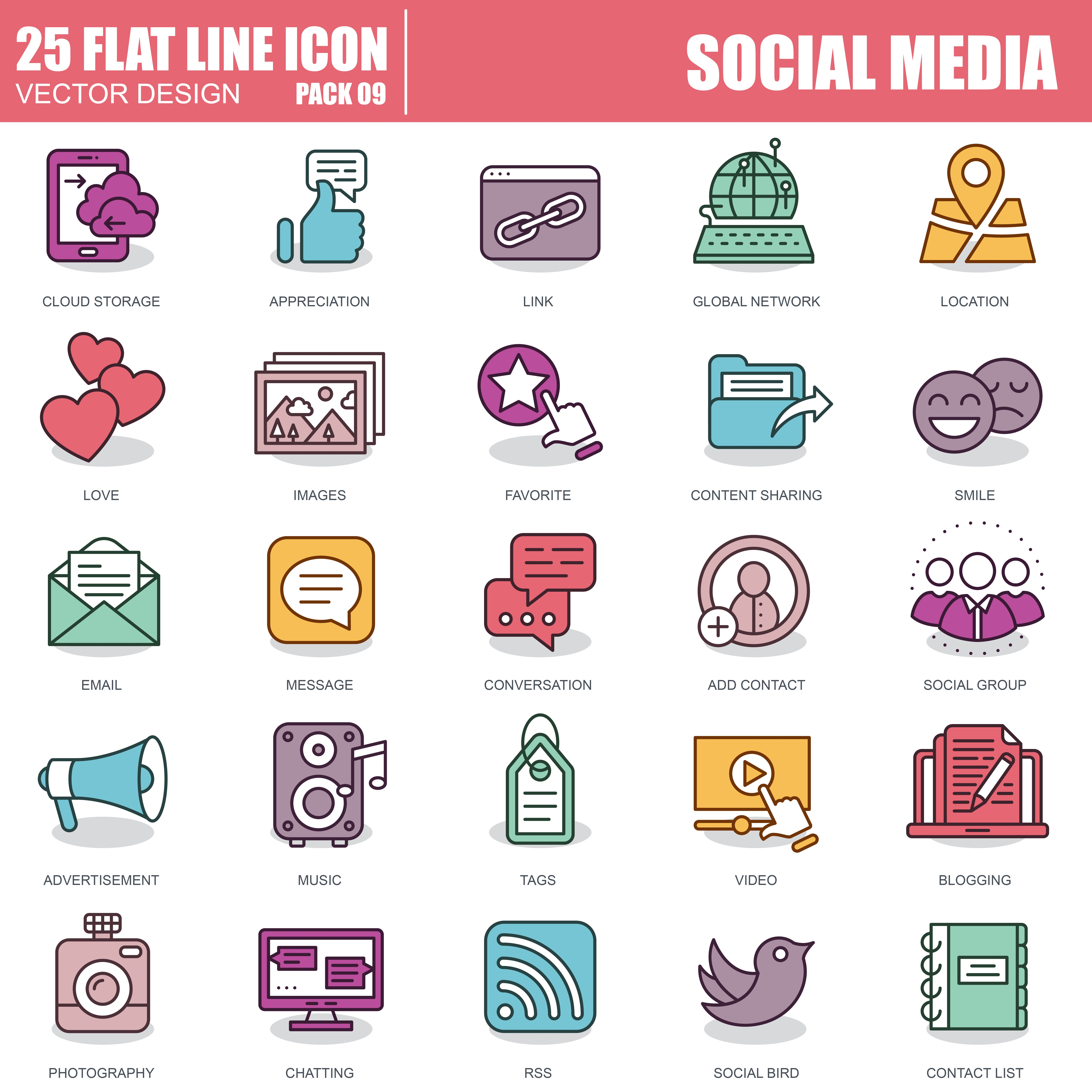 1000 Business Line Icons - just $22 - 9 1