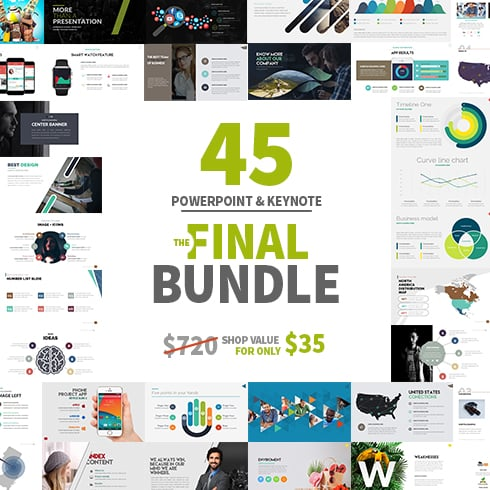 Powerpoint & Keynote Bundle: 45 templates