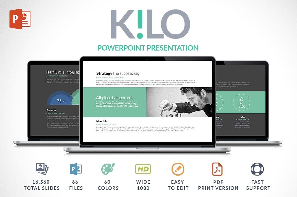 Modern PowerPoint Templates in 2021. Bundle: 44+ Templates - $35 - cover 1 o 1