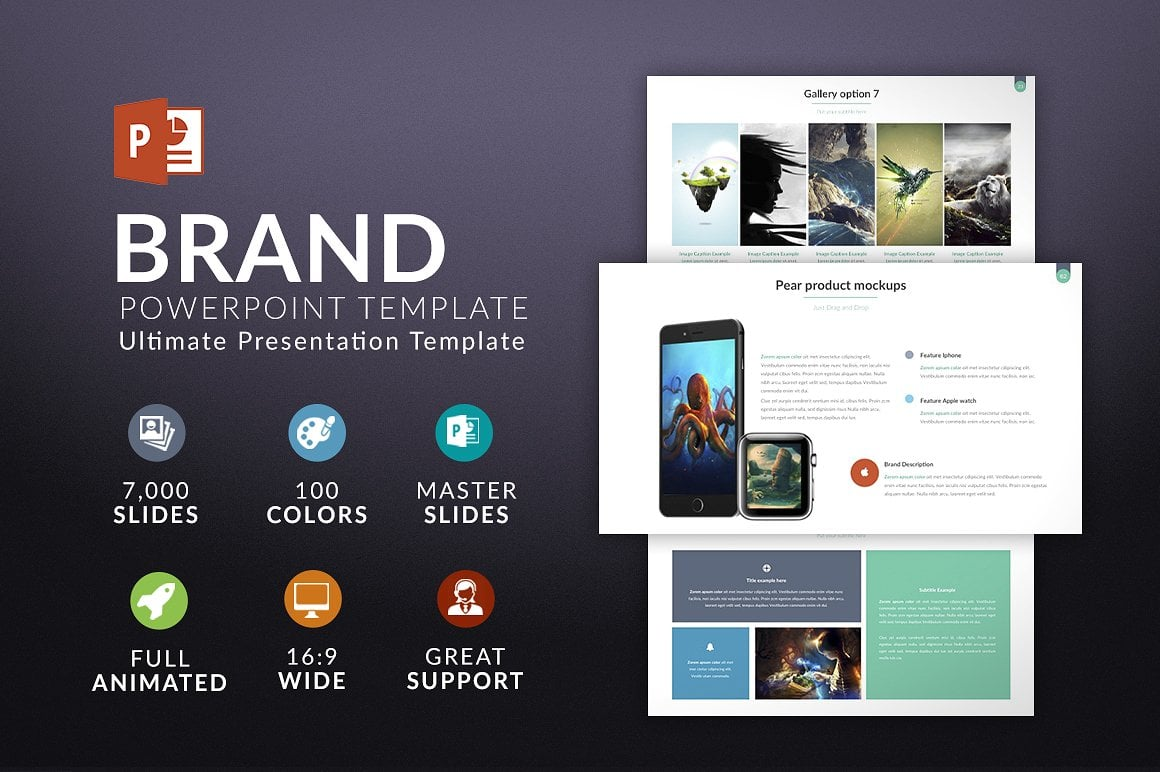 Modern PowerPoint Templates in 2021. Bundle: 44+ Templates - $35 - cover brand 2
