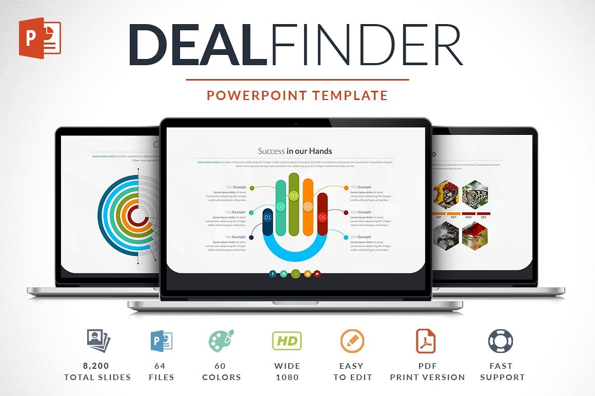 Modern PowerPoint Templates in 2021. Bundle: 44+ Templates - $35 - cover dealfinder 1 o