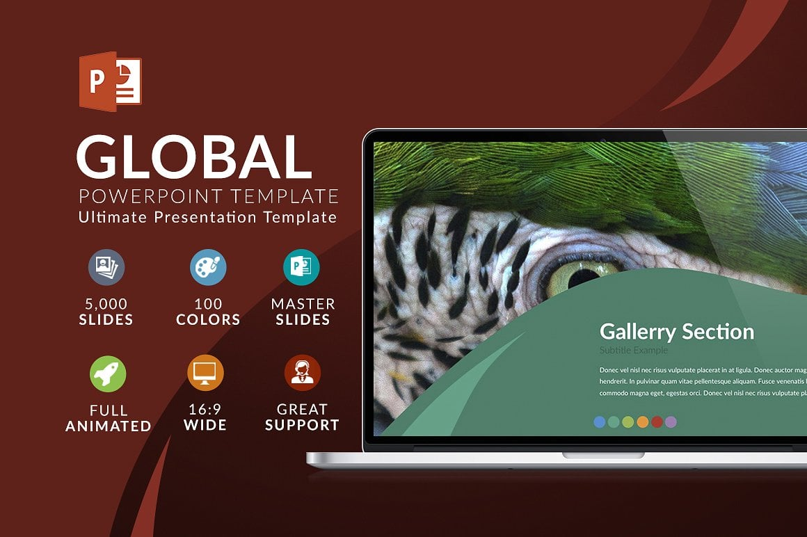 Modern PowerPoint Templates in 2020. Bundle: 44+ Templates - $35 - cover global 3