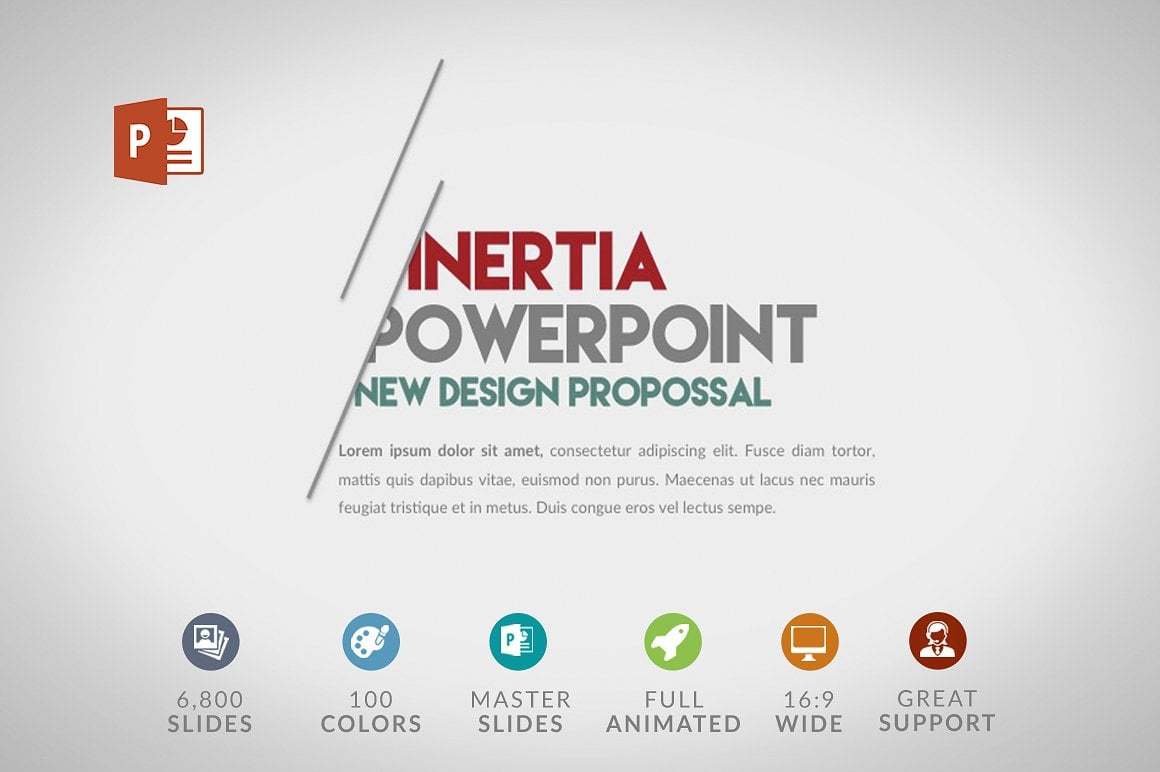 Modern PowerPoint Templates in 2020. Bundle: 44+ Templates - $35 - cover inertia 2