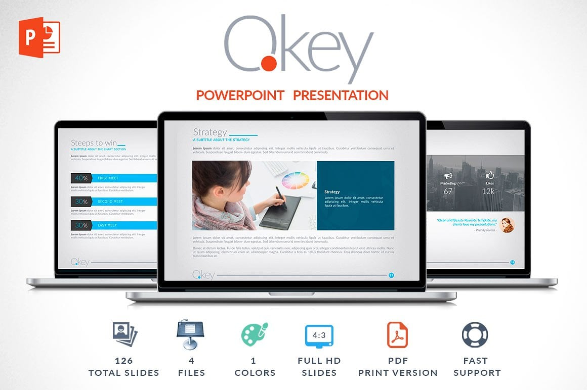 Modern PowerPoint Templates in 2020. Bundle: 44+ Templates - $35 - cover okey