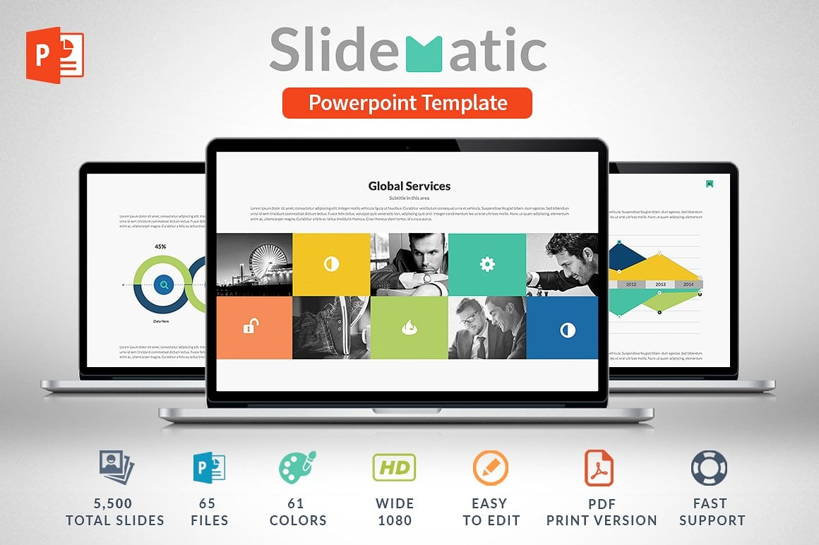 Modern PowerPoint Templates in 2021. Bundle: 44+ Templates - $35 - cover slidematic