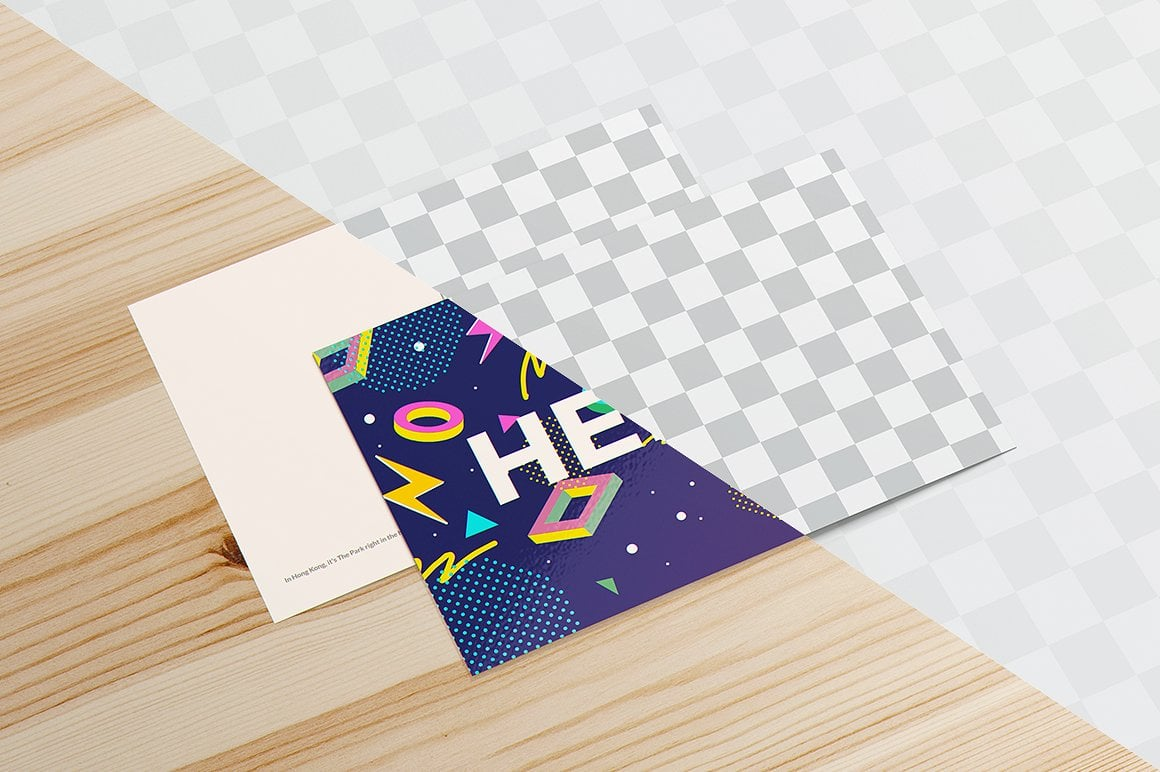 Postcard Mockups Bundle - 09