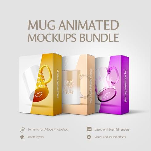 Coffee Cup Animated Mockups Bundle - 1 1