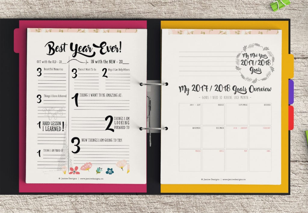 Life Planner: Mid Year 2017-2018