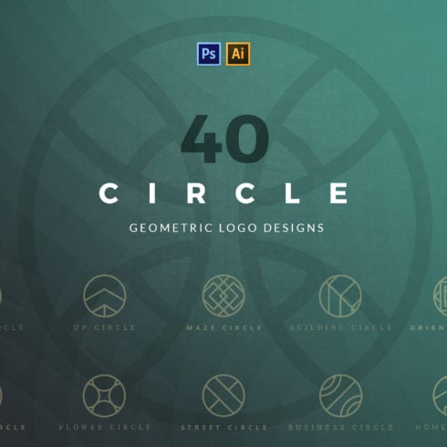 40 Circle Geometric Logo Designs - 1 3 490x490
