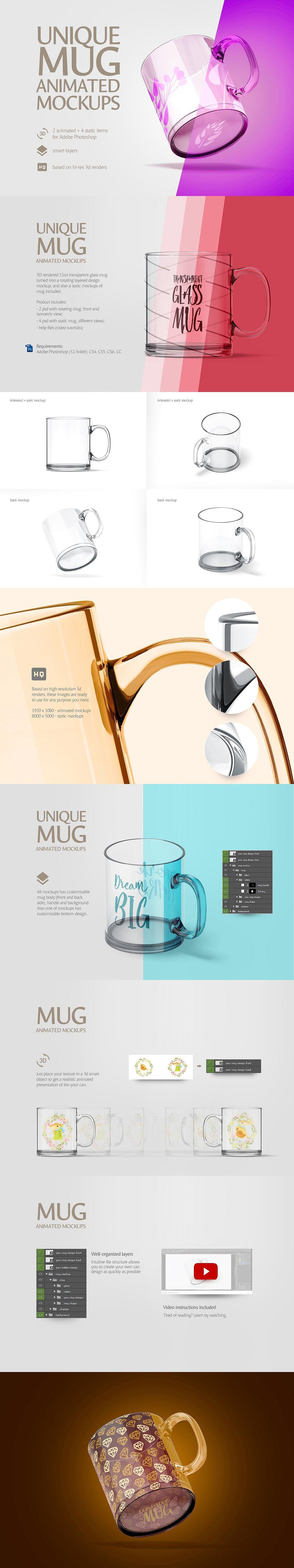 Mug Animated Mockups Bundle