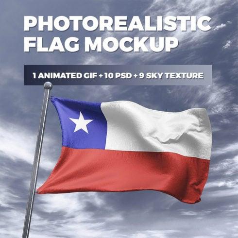10 Photorealistic Flag MockUp PSD 2021 - 490 2 490x490