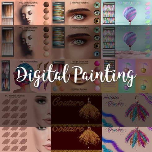 Digital Painting Assets – almost 3000 Elements