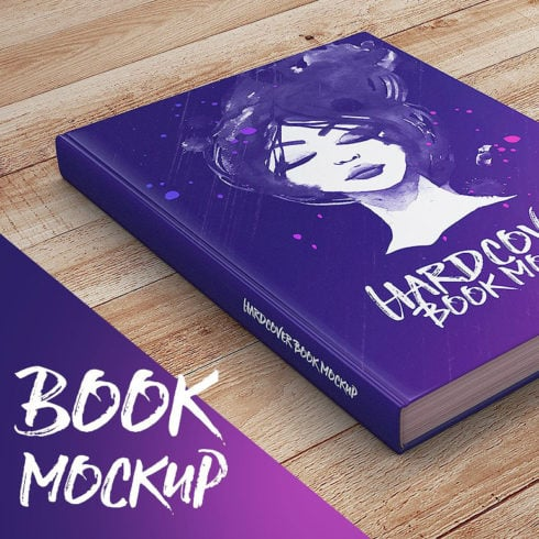 6 Hardcover Book Mockup 2020 + 8 Background Textures - 499 490x490