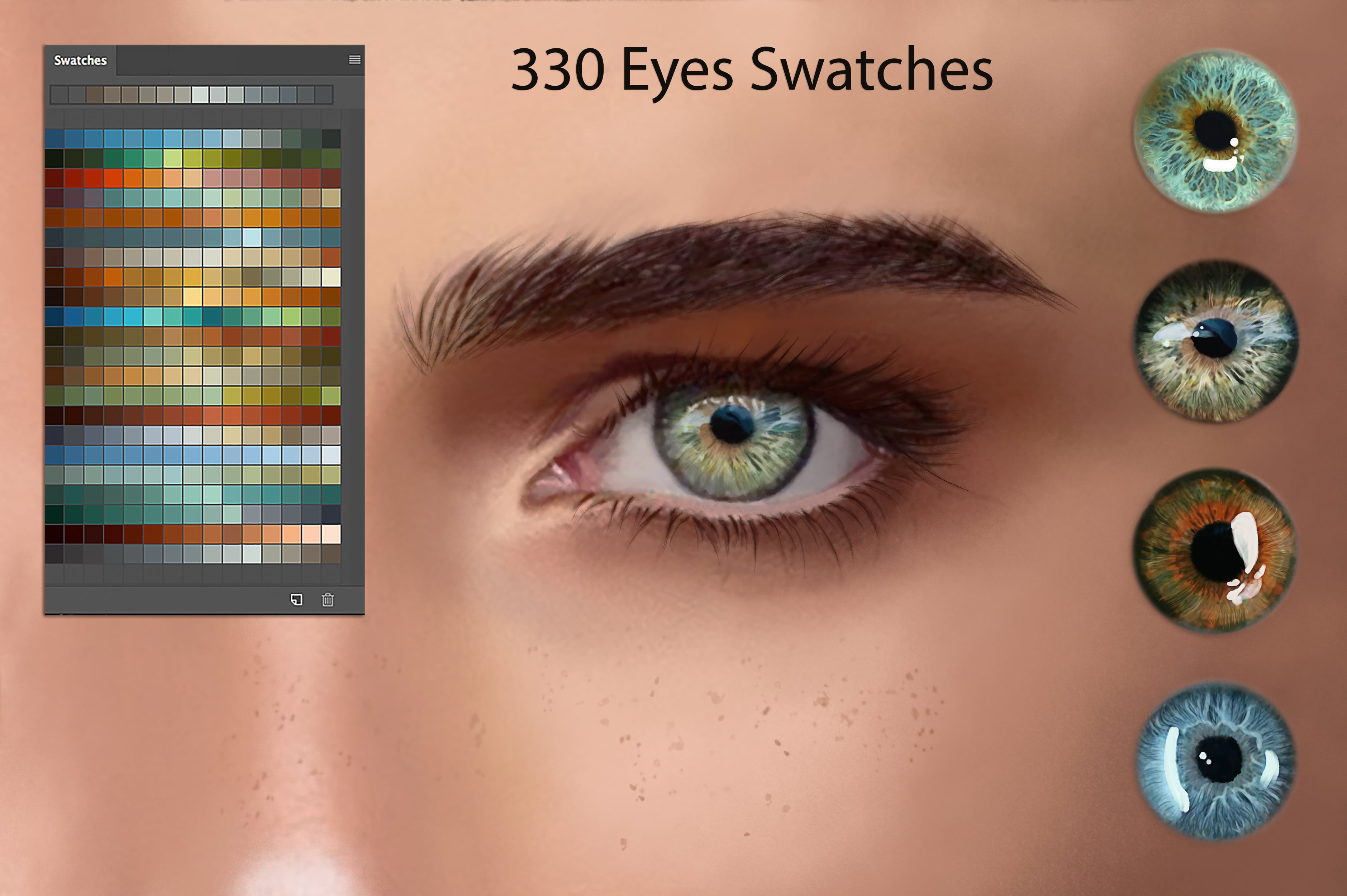 Digital Painting Assets - almost 3000 Elements - Eyes