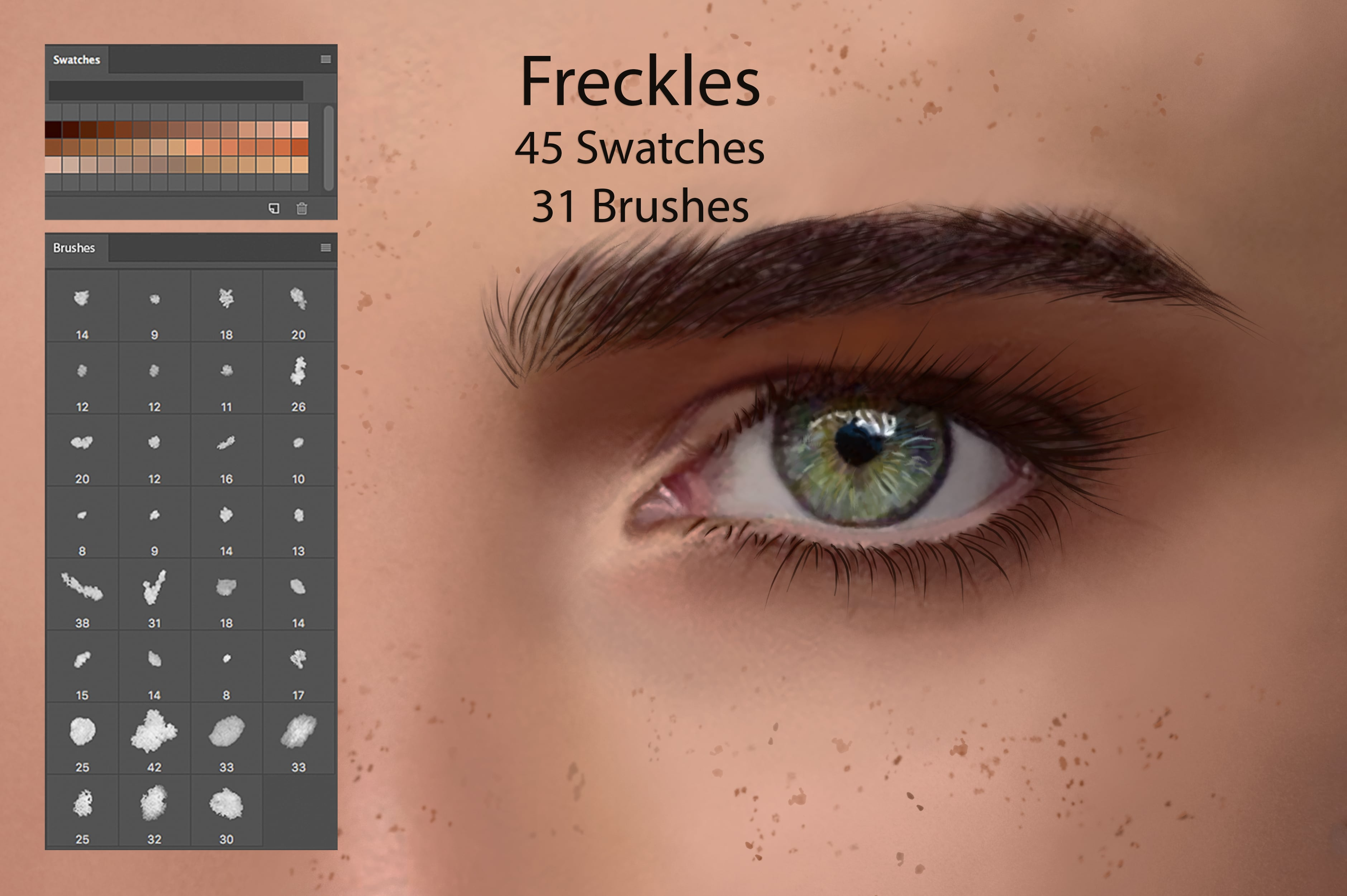 Digital Painting Assets - almost 3000 Elements - Freckles