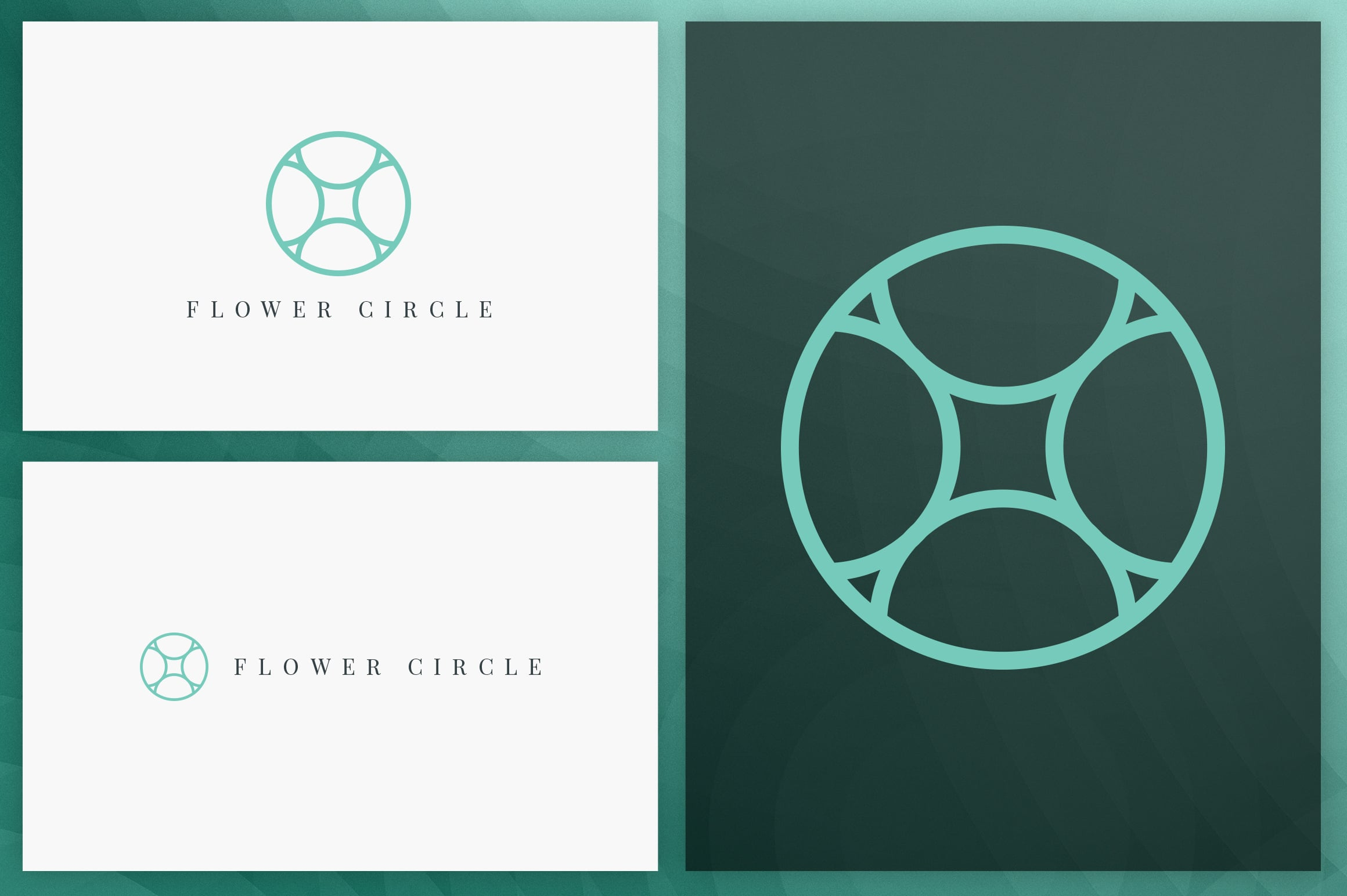 40 Circle Geometric Logo Designs - Logo04
