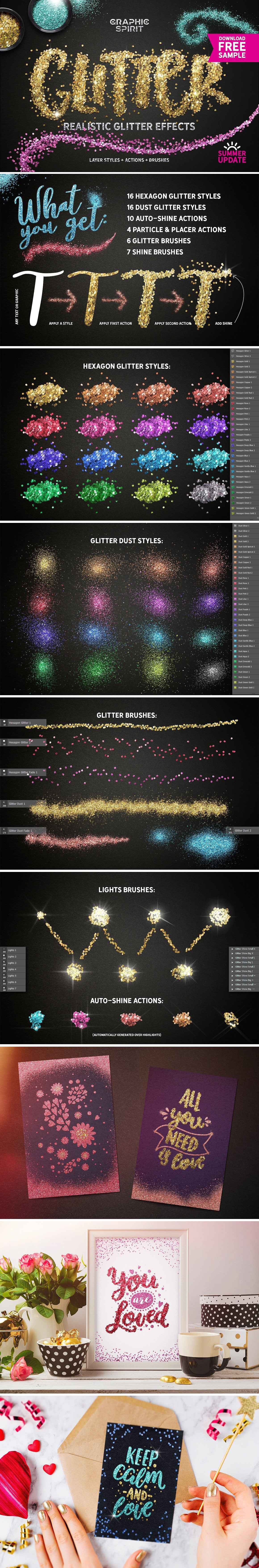 Glitter Effect Photoshop TOOLKIT - glitter effects photoshop view0