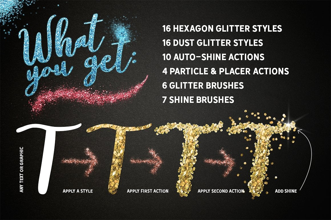 Glitter Effect Photoshop TOOLKIT - glitter effects photoshop view2
