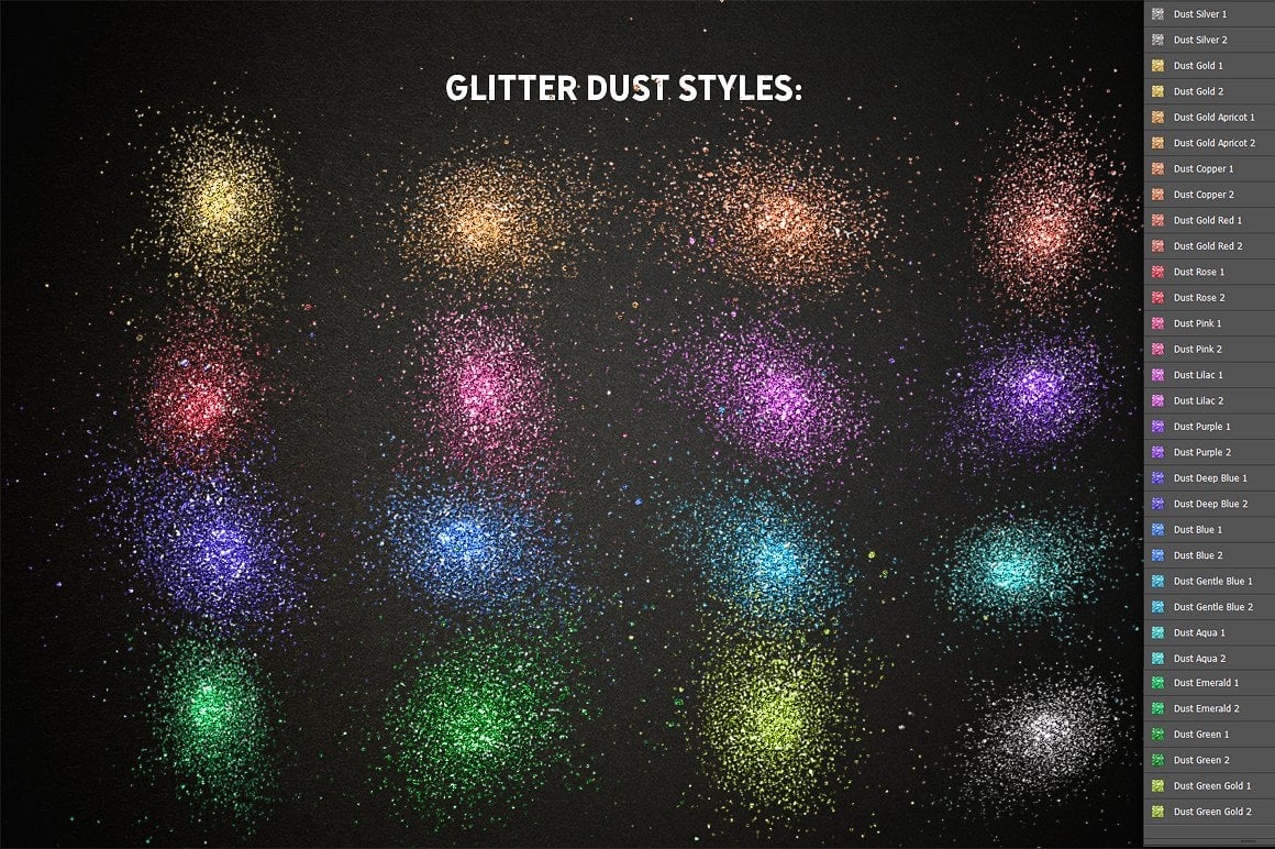 Glitter Effect Photoshop TOOLKIT - glitter effects photoshop view4