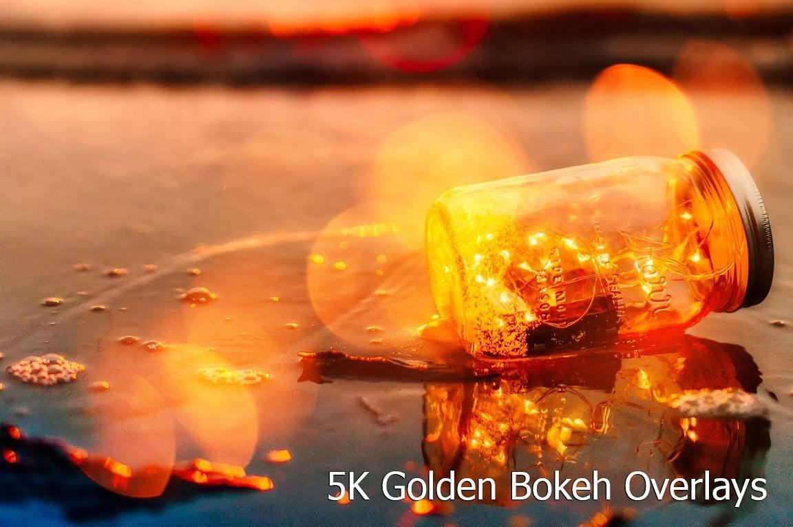 Golden Bokeh Overlays