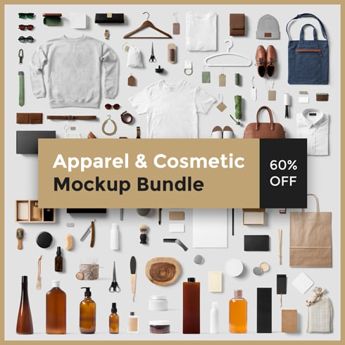 Apparel & Cosmetic Mockup Bundle 2020 - PSD - 01 Masterbundles 490