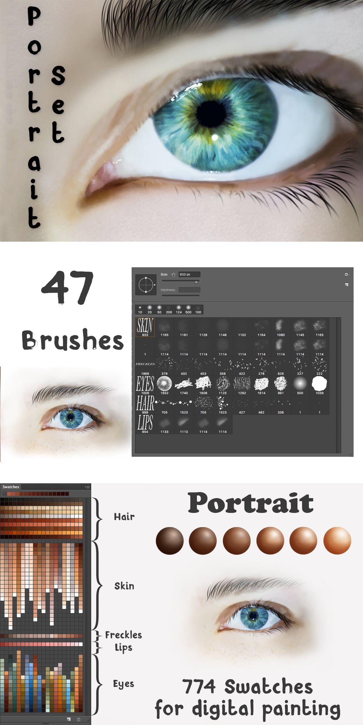 2500+ Artistic Brushes + Extra Assets - 05 Portrait