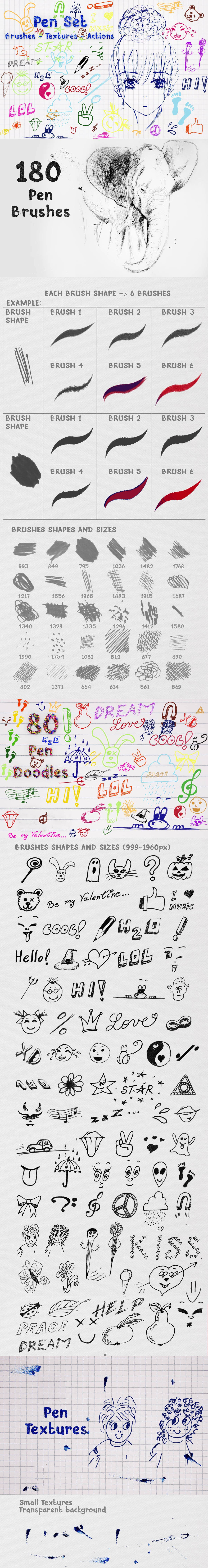 2500+ Artistic Brushes + Extra Assets - 06 Pen