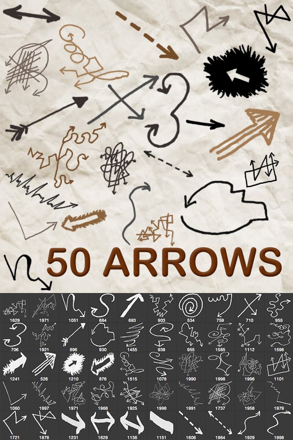 2500+ Artistic Brushes + Extra Assets - 08 Arrow1