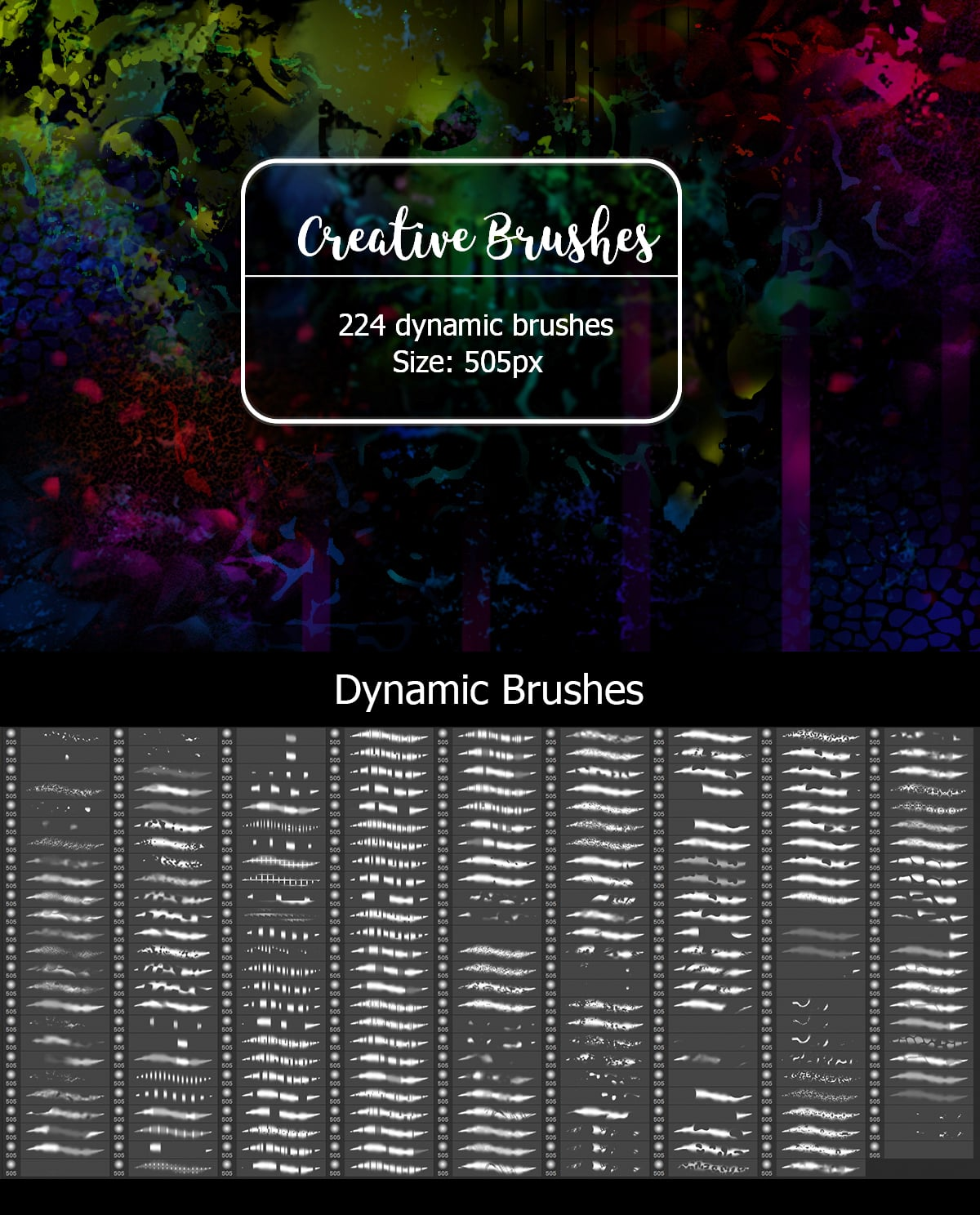 2500+ Artistic Brushes + Extra Assets - 12 Creative Brushes