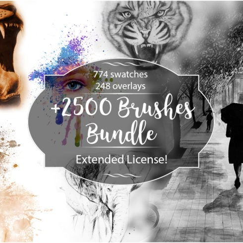 +2500 Artistic Brushes + Extra Assets