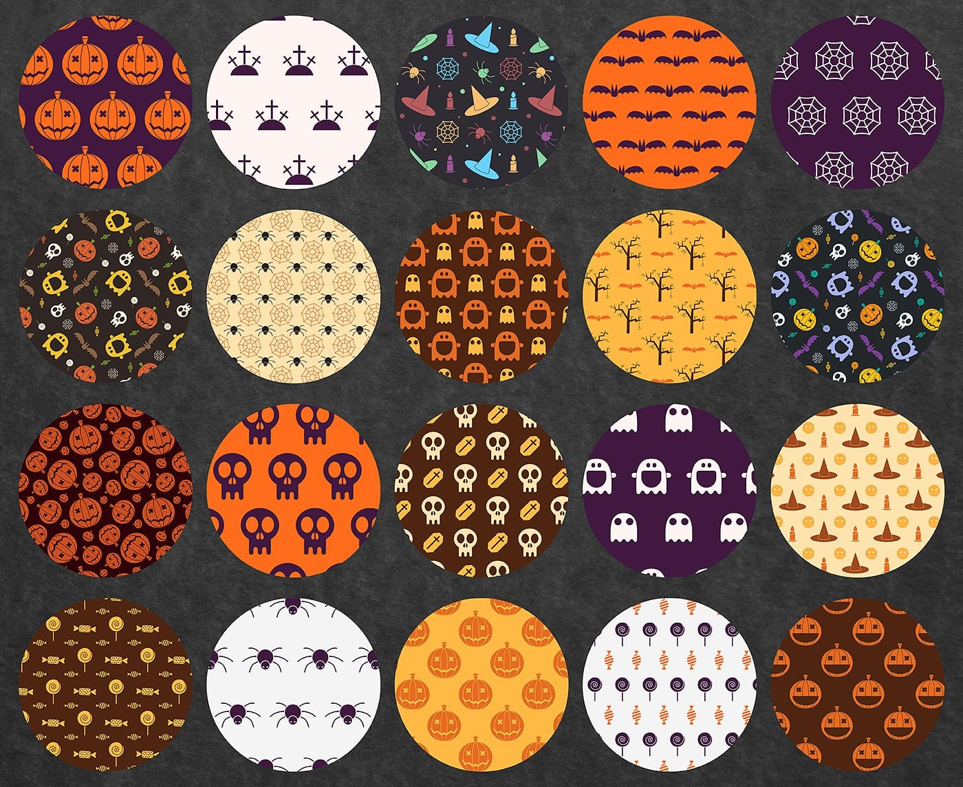 23 Halloween Patterns - Extended License