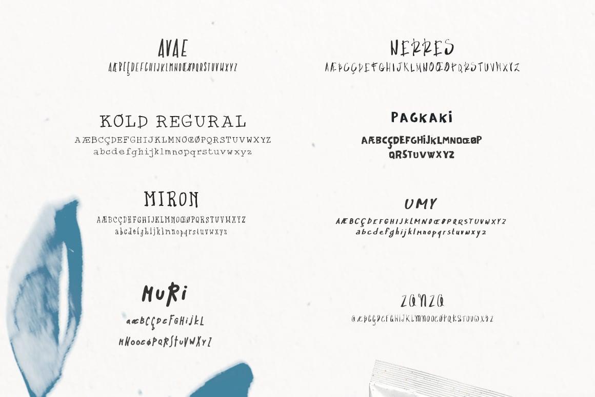10 Handwritten Font Bundle Pack