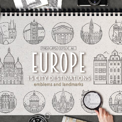 Travel Europe Cities Destinations - $5 ONLY - masterbundles previews 01