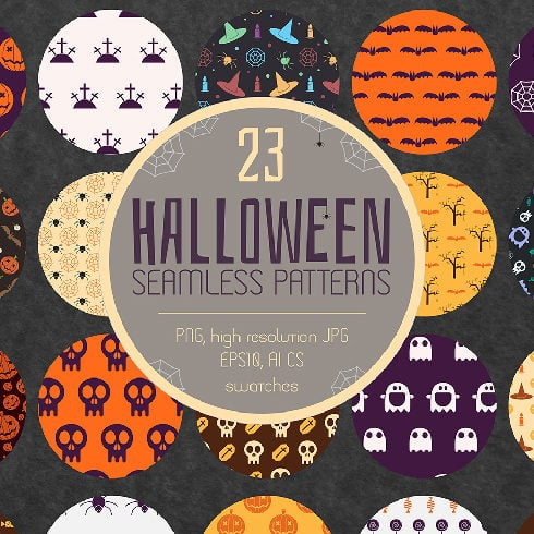 20+ Halloween Seamless Patterns in 2020 - Extended License - $5 - masterbundles previews 01 halloween 490x490