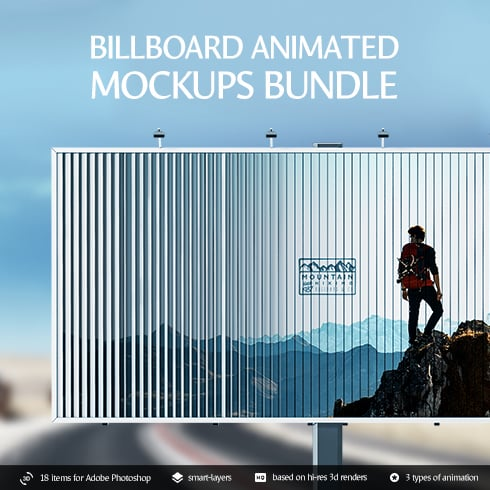 17 Animated Billboard Mockups 2020 - .PSD - 1 6