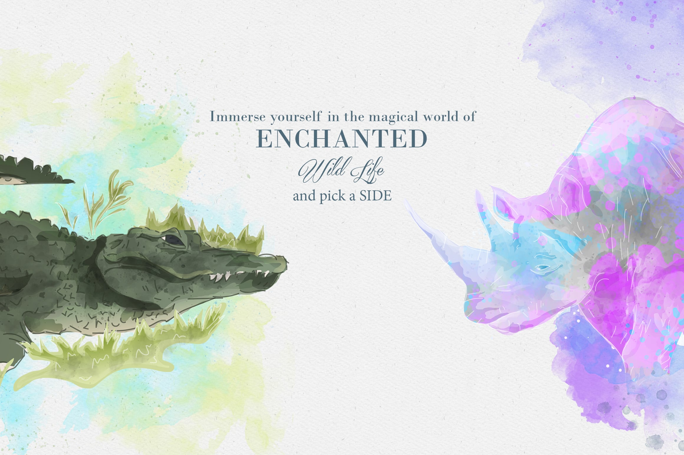 Enchanted Wild Graphic Set - 100 Elements