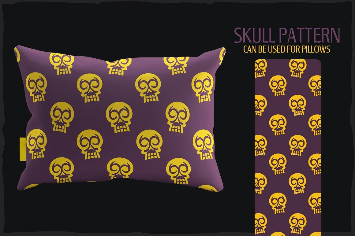 20 Skull Seamless Vector Patterns